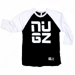 NUGZ Baseball Tee - Black & White
