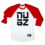 NUGZ Baseball Tee - Red & White
