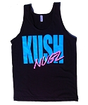 Retro Nugz Tank - Black & Neon Blue