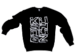 'Sketchy Nugz' - Black Crewneck Sweater