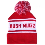 Kush Nugz Knitted Toque // Red and White