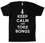 Keep Calm and Toke Bongs - Black
