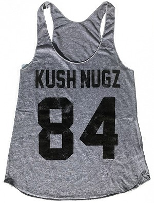 Kush Nugz 84 Women's Racerback Tank // Athletic Grey